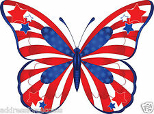 60 Personalized Patriotic Butterfly Return Address Labels