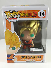 Funko Pop! Super Saiyan Goku Metallic Loot Crate Exclusive #14 Dragonball Z