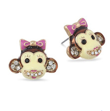 Betsey Johnson Day At The Zoo Monkey Stud Earrings NWT $25