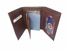 ALW Stylish High Quality Faux Leather Tri Fold Wallet - Brown