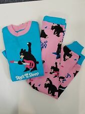 "Lazy One Kids Children Long Sleeve Pajama Sleep Set ""ROCK ME TO SLEEP""  Size 2T"