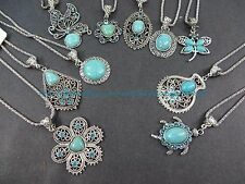 US SELLER - 10 pieces retro vintage wholesale lot turquoise jewelry pendant