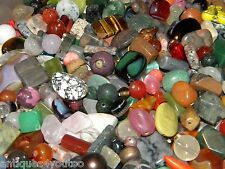 NEW 8/oz GLASS, Gem, Stone 8-20mm of Multi-colored Large MIXED LOOSE BEADS LOT