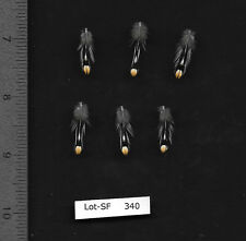 """Six 0.75"""" to 1"""" Grey Jungle Fowl Cock Neck Nail Feathers Fly Tying"""