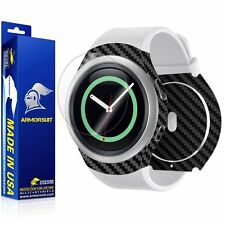 ArmorSuit - Samsung Gear S2 Screen+Black Carbon Fiber Full Body Protector