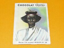 CHROMO CHOCOLATS COOP 1932 RACES AFRIQUE VALLEE DU NIL NUBIEN