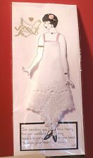 Lovely White Crochet Lace Handkerchief For The Bride w/ Mailing Envelope & Verse