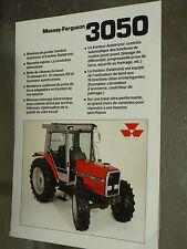Prospectus MASSEY FERGUSSON 3050 Tracteur tractor traktor brochure prospekt
