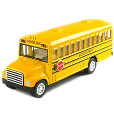 "Kinsmart Kinfun 5"" School Bus Diecast Display Toy Car KS5107D Yellow"