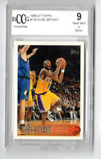 KOBE BRYANT NBA 1996-97 TOPPS ROOKIE CARD GRADED 9.0 MINT (L.A.LAKERS)
