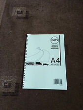 A4 Wirebound Vehicle Car Mileage Log Book 13 Entries Per Page 40 Pages