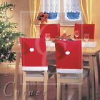 Set of 1 2 4 6 8 Christmas Santa Hat CHAIR COVERS - Table Decoration XMAS HATS