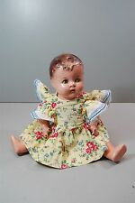 Antique Composition Doll Sally - Tin Eyes by Ideal Doll 1930s about 14""