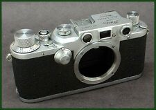 "Classic 1947 Leica IIIc 35mm camera body with ""sharkskin"" covering!!"