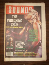 SOUNDS 1989 OCT 28 MOTLEY CRUE IRON MAIDEN WOLFHOUNDS