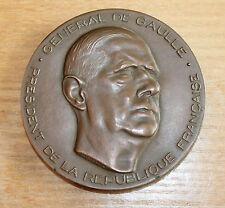 ancienne grosse médaille général de Gaulle président de la république française