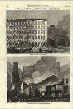 1868 Great Fire At Chicago Lake Street North And South