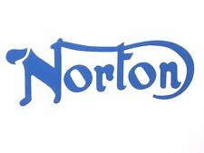 "NORTON gas proof tank Diecut Blue decal Commando 750 850 06-4880 6"" long UK Made"