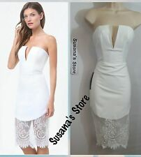 NWT bebe Lace Trim V-Notch Midi Dress SIZE XXS Very attractive and sexy$160