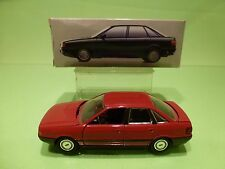 SCHABAK  AUDI 80 QUATTRO - RED 1:43 - GOOD CONDITION IN DEALER BOX