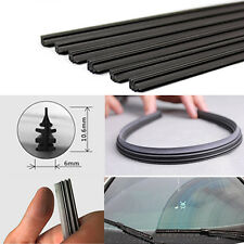 "2 X Universal Frameless Vehicle Replacement Rubber Wiper Blade Refill 24"" 6mm"