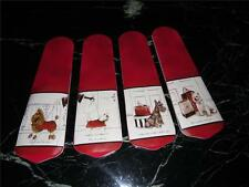 CUSTOM DESIGNED FRENCH CHIC DOGS CEILING FAN w/RED BLADES ~ UNIQUE!! L@@K!
