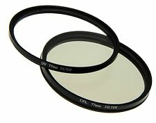 UV CPL Filter 77mm 2 in 1 Set für Kameras Objektive Ultraviolett Polarisations