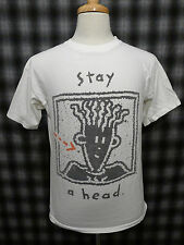 Vintage Fido Dido STAY A HEAD 1980s Cartoon Character T-Shirt MEDIUM Changes USA