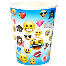 EMOJI 9oz PAPER CUPS (8) ~ Birthday Party Supplies iPhone Android Message Drink