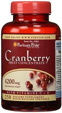 Puritan's Pride Cranberry Fruit Concentrate 4200 mg Vitamin C & E Made in USA