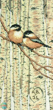 Cross Stitch Kit ~ Dimensions Chickadee Love Birds Tree Initials #70-35277 SALE!