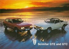 Reliant Scimitar GTE & GTC 1984-85 UK Market Leaflet Sales Brochure