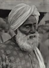 1928 Original INDIA Jaipur Old Man Rajput Turban Beard Male Portrait ~ HURLIMANN