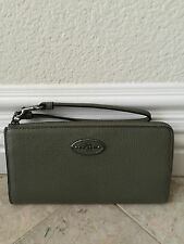 NWT Coach Refined Grain Leather Large Zippy Wallet Wristlet 53413 QB / Surplus