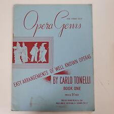 piano solo CARLO TONELLI opera gems , easy arr`s , book 1