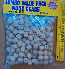 VALUE PACK BAG OF WOODEN BEADS CRAFT 14 ounces