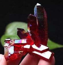 26g Light Red Aura Quartz Crystal Titanium Bismuth Silicon Cluster Rainbows
