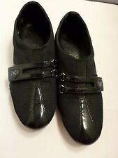 WOMAN'S COLE HAAN   BLACK PATENT LEATHER SNEAKERS COMFORT WALKING SHOES  5.5
