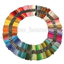 150pcs Mix Colors Cross Stitch Cotton Embroidery Thread Floss Kit Sewing Skeins