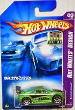 HOT WHEELS 2007 HW DESIGN ASPHALT ASSAULT #03/04 GREEN FACTORY SEALED