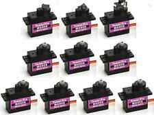 NEW 10PCS MG90S Micro Metal Gear 9g Servo for RC Plane Helicopter Boat Car