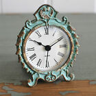 Mantle Clock Aqua Shabby Chic Vintage French Style Distressed Home Gift
