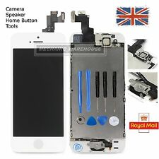 For iPhone 5S SE LCD Display Touch Screen Digitizer Home Button Camera White