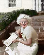 JEAN HARLOW WITH AN AUTOGRAPH BOOK BEAUTIFUL COLOR PHOTO BY CHIP SPRINGER