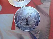 2015 3/4 oz. Canadian Grey Wolf 2$ coin .9999 fine silver uncirculated RCM