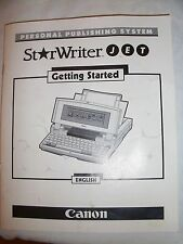 Instructions typewriter CANON Starwriter JET 'getting started'
