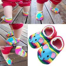 1 Pair Colorful Cute Lace Side Baby Girl Toddler Anti-Slip Socks Shoes Slipper