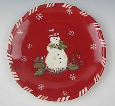Tracy Porter JOLLY OL SNOWY Salad Plate(s) EXCELLENT