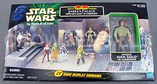 "Star Wars PotF 3-D Diorama Jabba's Palace w/ Han Solo in Carbonite 25"" Display"