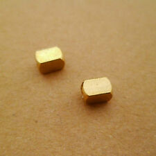 30pcs 6mm Yellow Raw Brass Faceted Tube Beads Spacers Solid Brass Hole 3mm